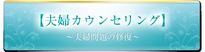 【夫婦カウンセリング】~夫婦問題の修復~